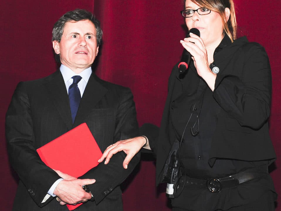 L'ex sindaco Gianni Alemanno e la prof.ssa Giovanna Pini